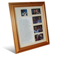 Personalised poem and 5 photo collage frame